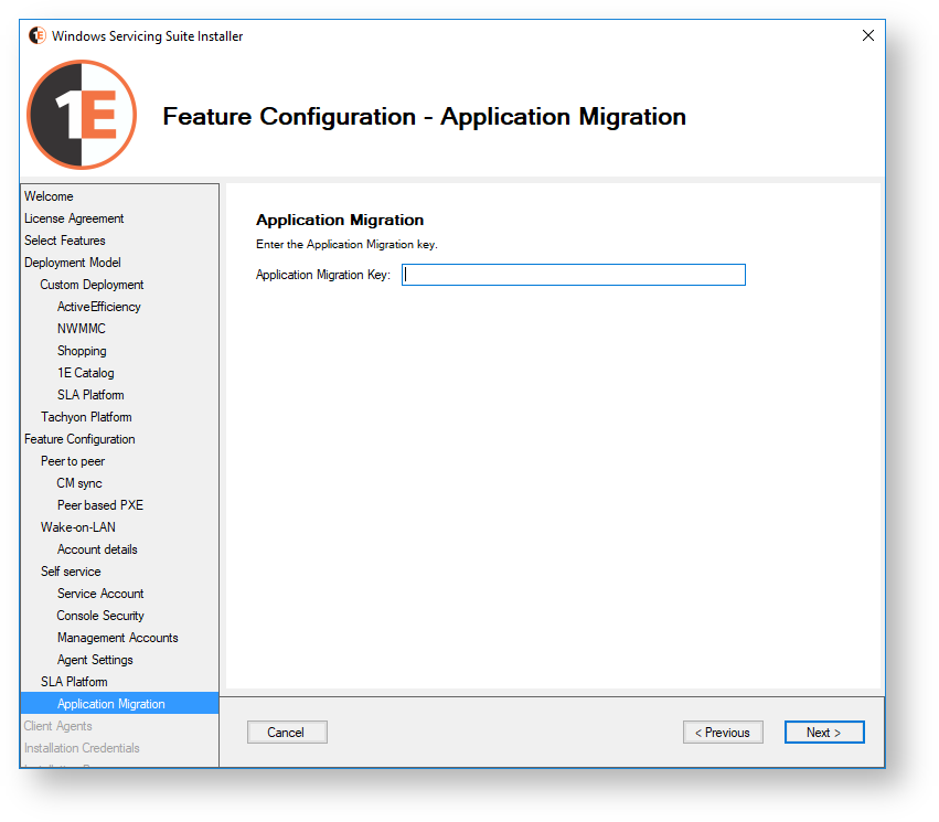 Licensing Application Migration